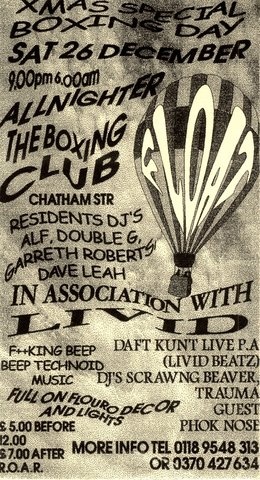 Float All Nighter, Boxing Club 1998-12-26