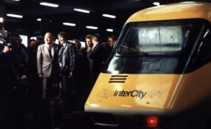 Sir Peter Parker launches APT at Euston, 7.12.1981